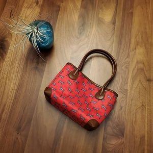 Alynn small red crossbody dog purse bag